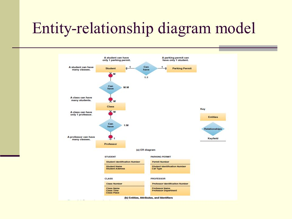 Entity-relationship diagram model