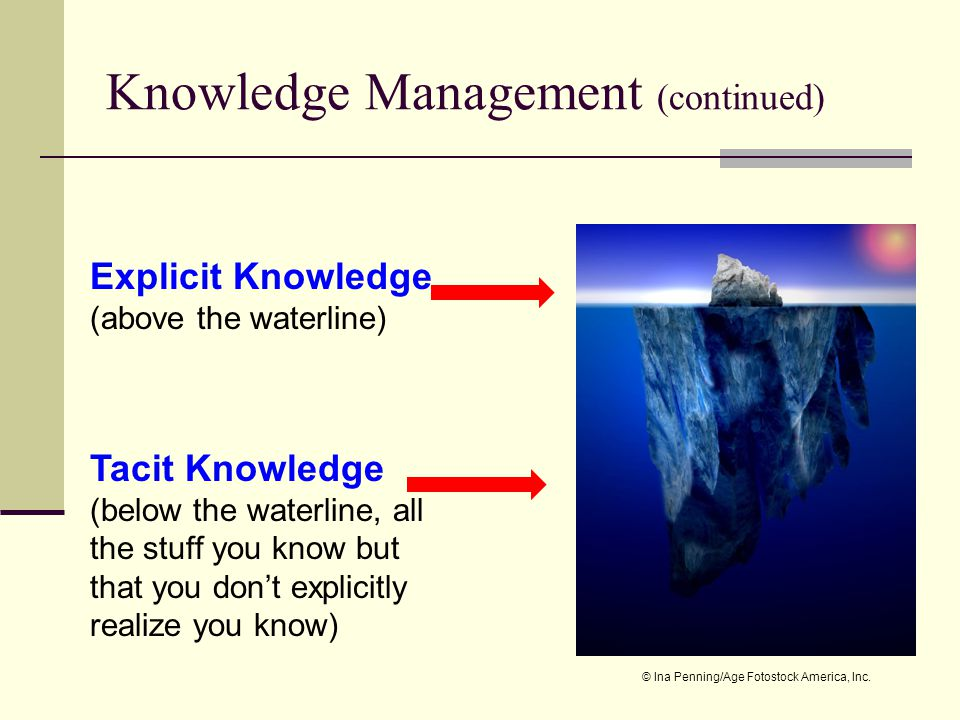 Knowledge Management (continued)