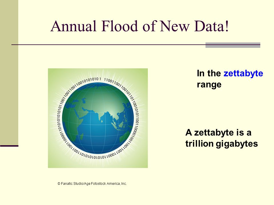 Annual Flood of New Data!