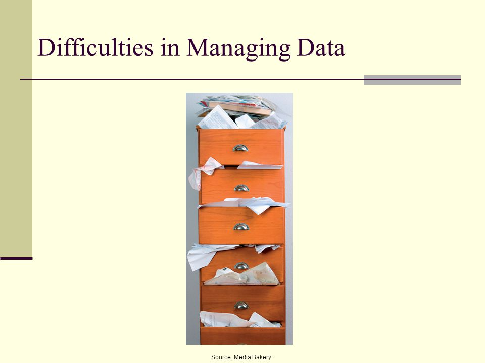 Difficulties in Managing Data