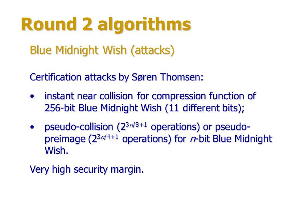 Round 2 algorithms Blue Midnight Wish (attacks)