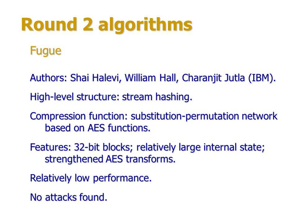 Round 2 algorithms Fugue