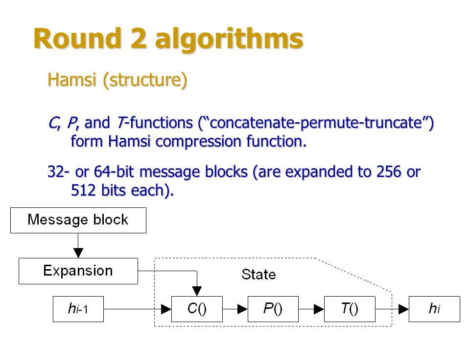 Round 2 algorithms Hamsi (structure)