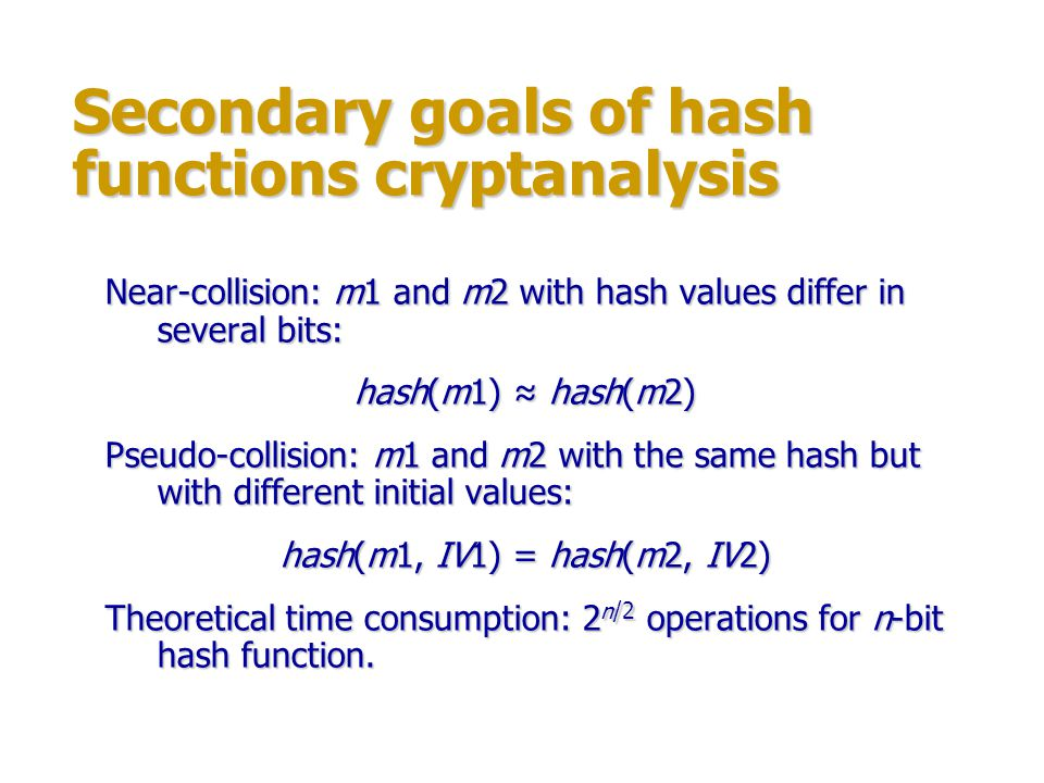 Secondary goals of hash functions cryptanalysis