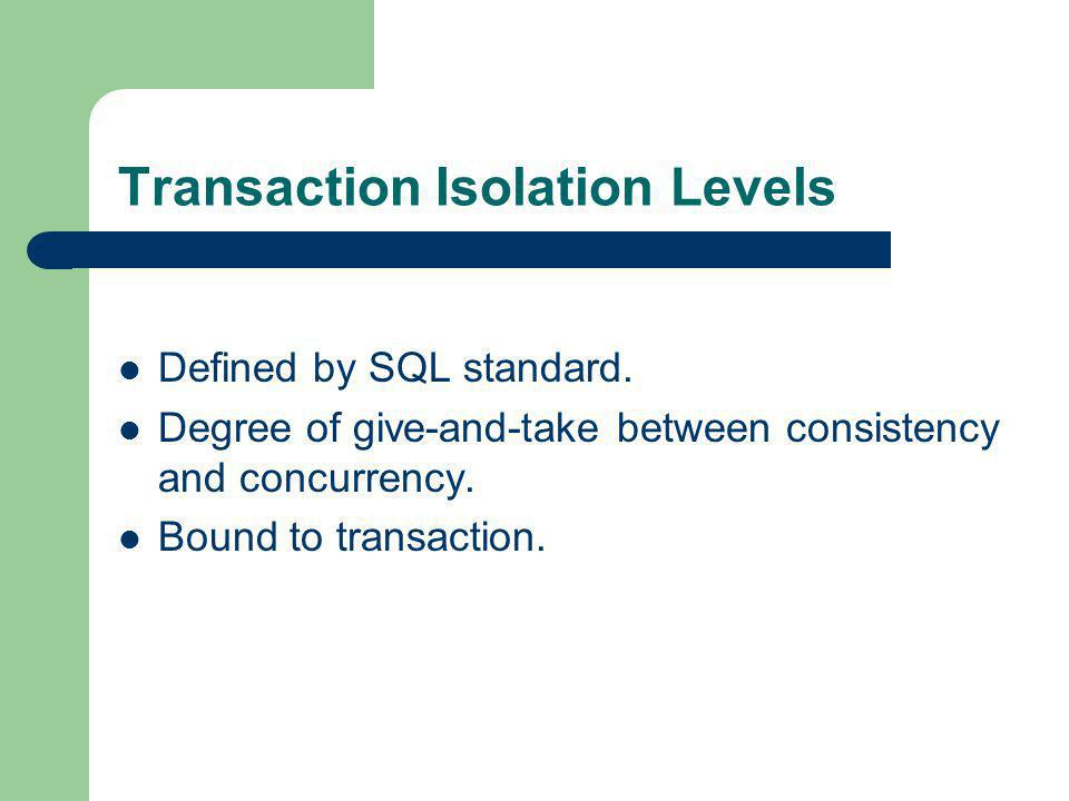Transaction Isolation Levels
