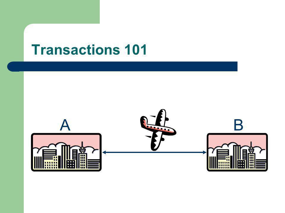 Transactions 101 A B