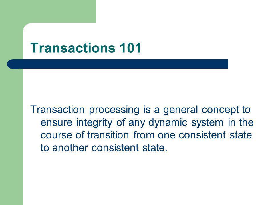 Transactions 101