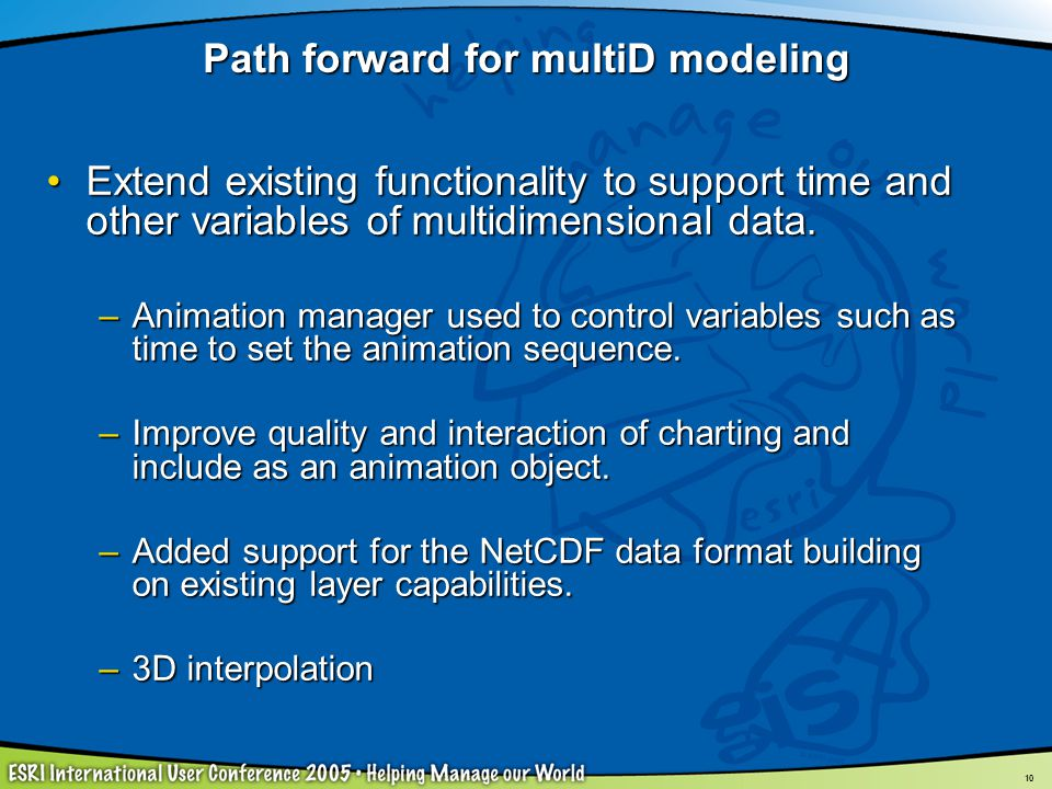 Path forward for multiD modeling