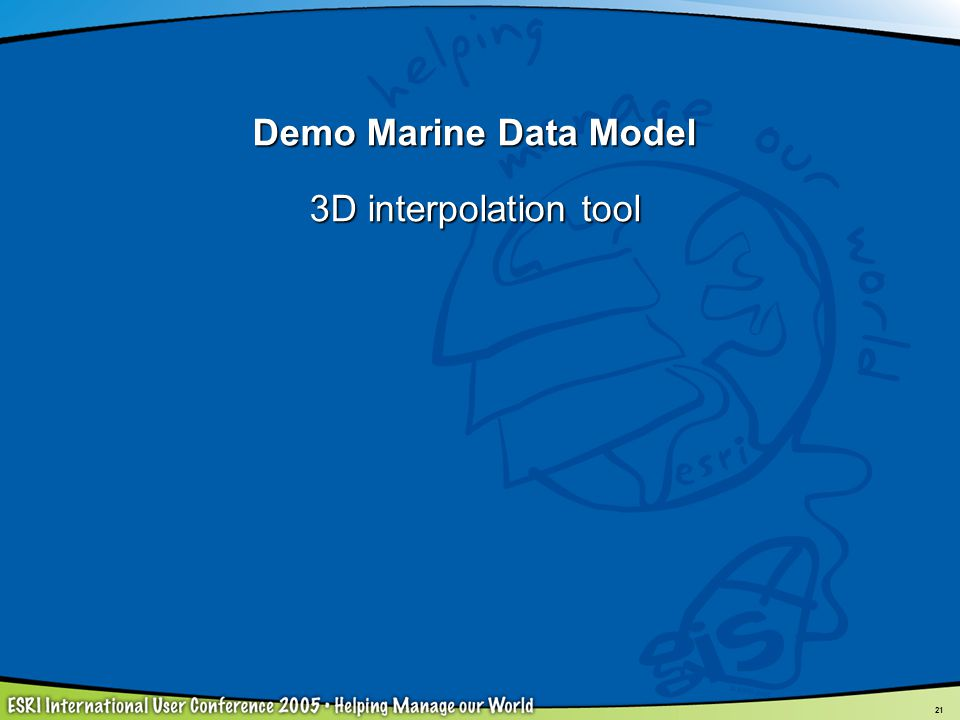 Demo Marine Data Model 3D interpolation tool