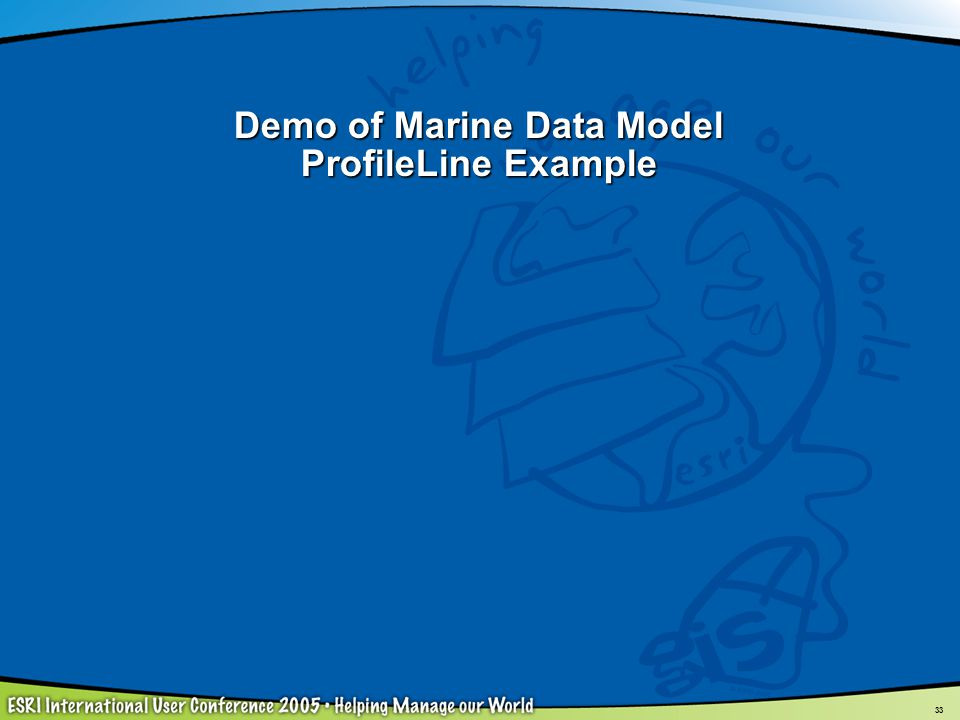 Demo of Marine Data Model ProfileLine Example