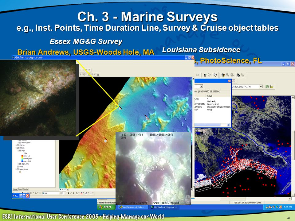 Ch. 3 - Marine Surveys e. g. , Inst