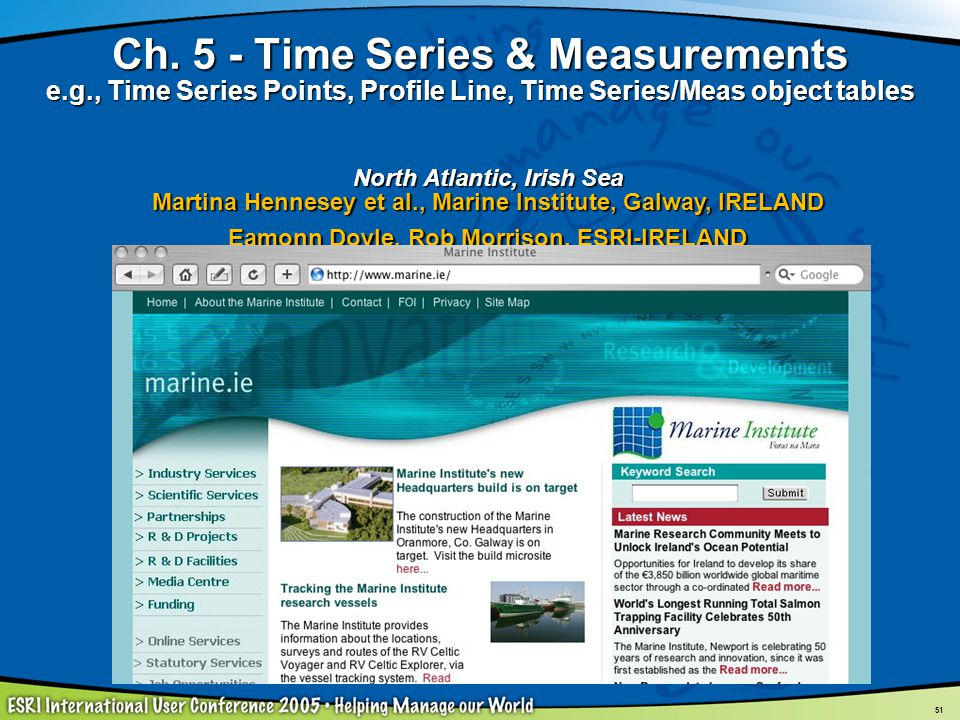 Ch. 5 - Time Series & Measurements e. g
