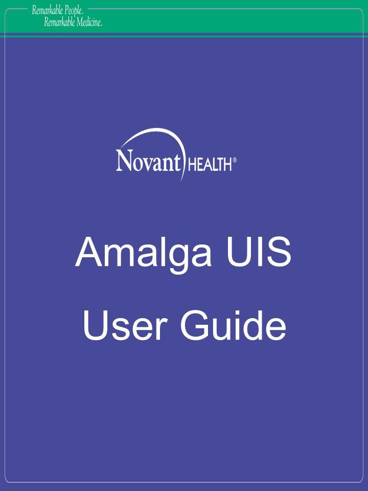 Amalga UIS User Guide