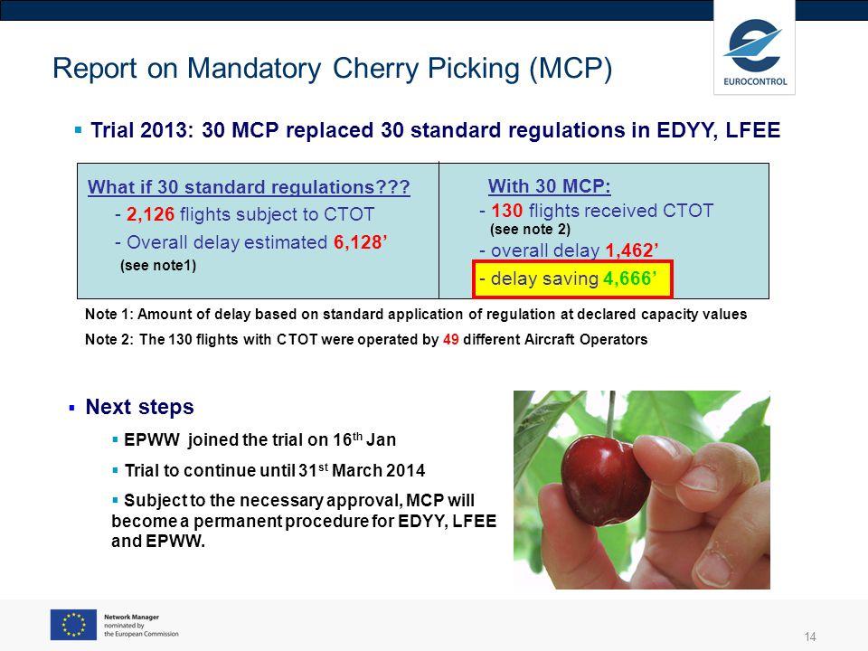 Report on Mandatory Cherry Picking (MCP)