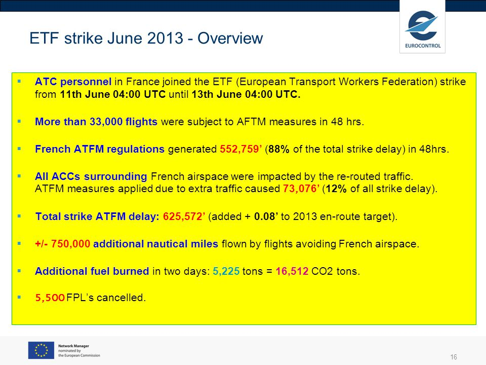 ETF strike June 2013 - Overview