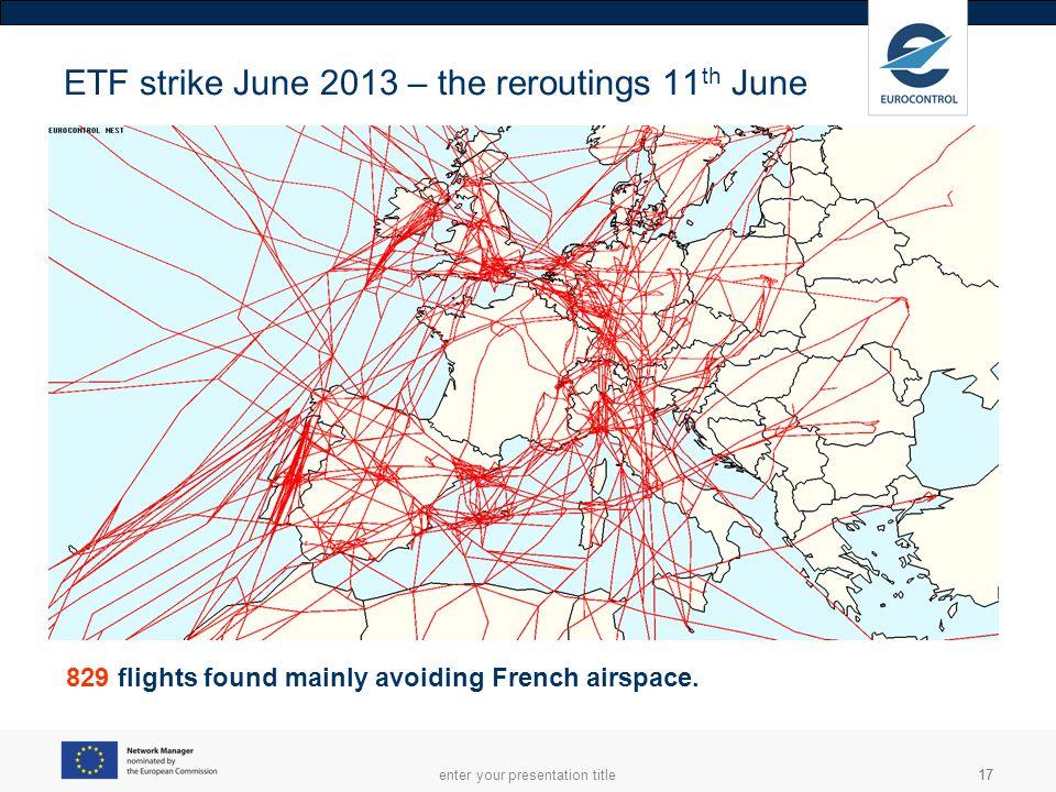 ETF strike June 2013 – the reroutings 11th June