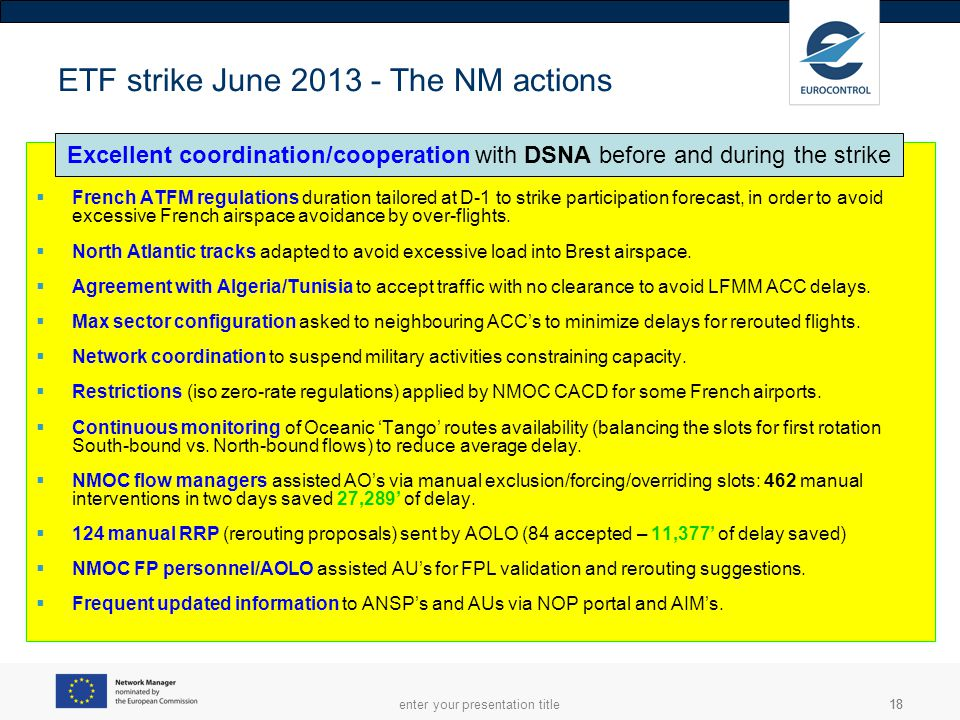 ETF strike June 2013 - The NM actions