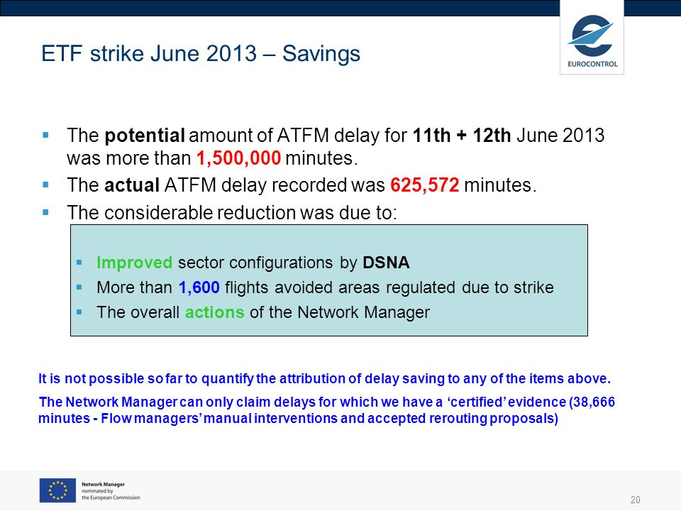 ETF strike June 2013 – Savings