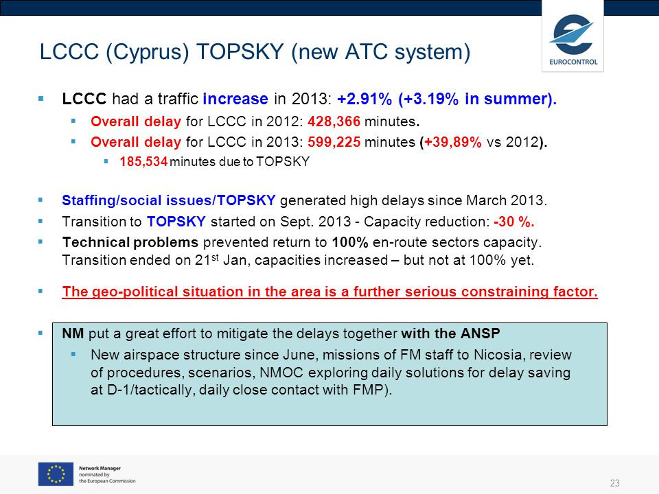 LCCC (Cyprus) TOPSKY (new ATC system)