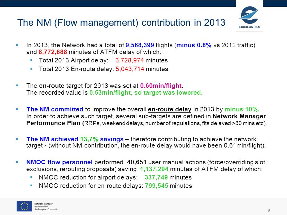 The NM (Flow management) contribution in 2013