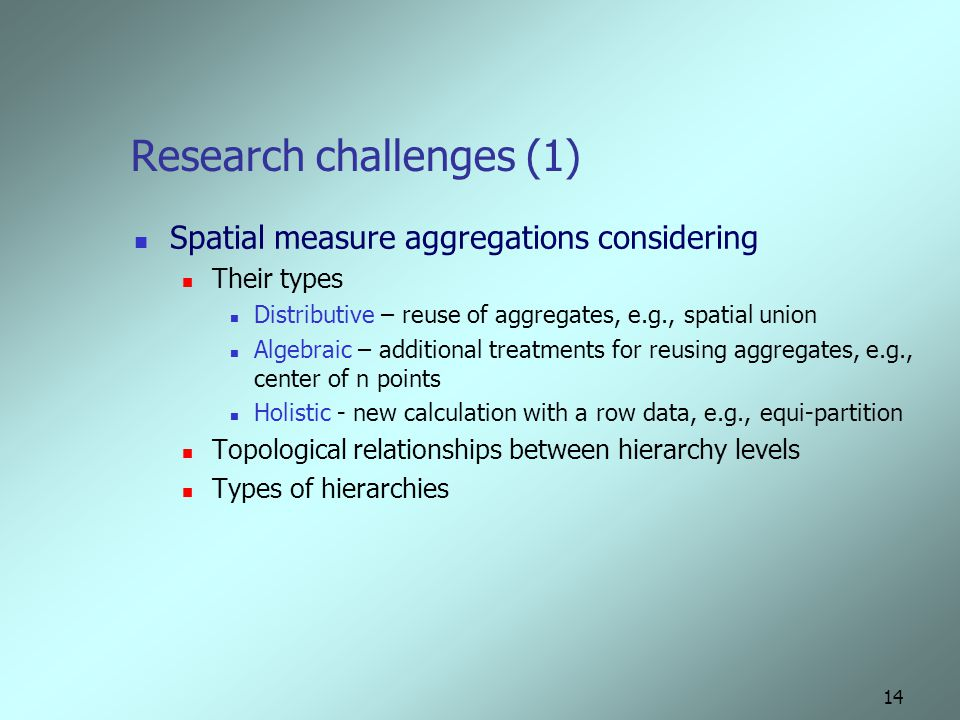 Research challenges (1)