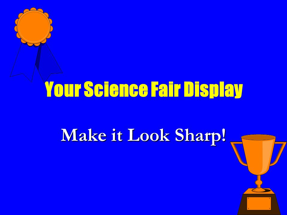 Your Science Fair Display