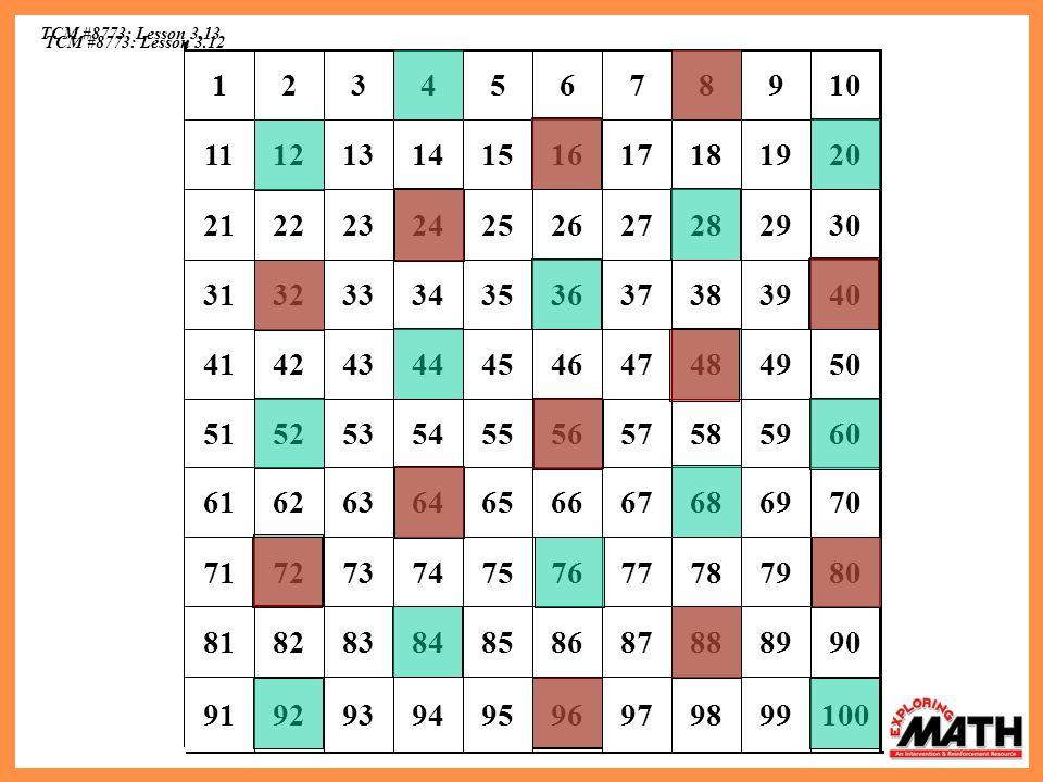 TCM #8773: Lesson 3.13 100. 99. 98. 97. 96. 95. 94. 93. 92. 91. 90. 89. 88. 87. 86. 85.