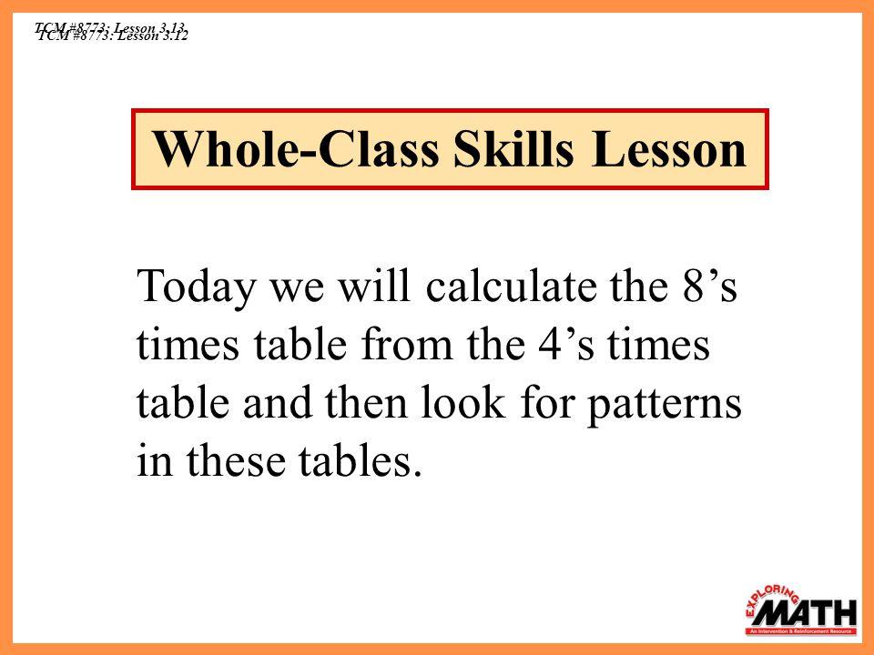 Whole-Class Skills Lesson