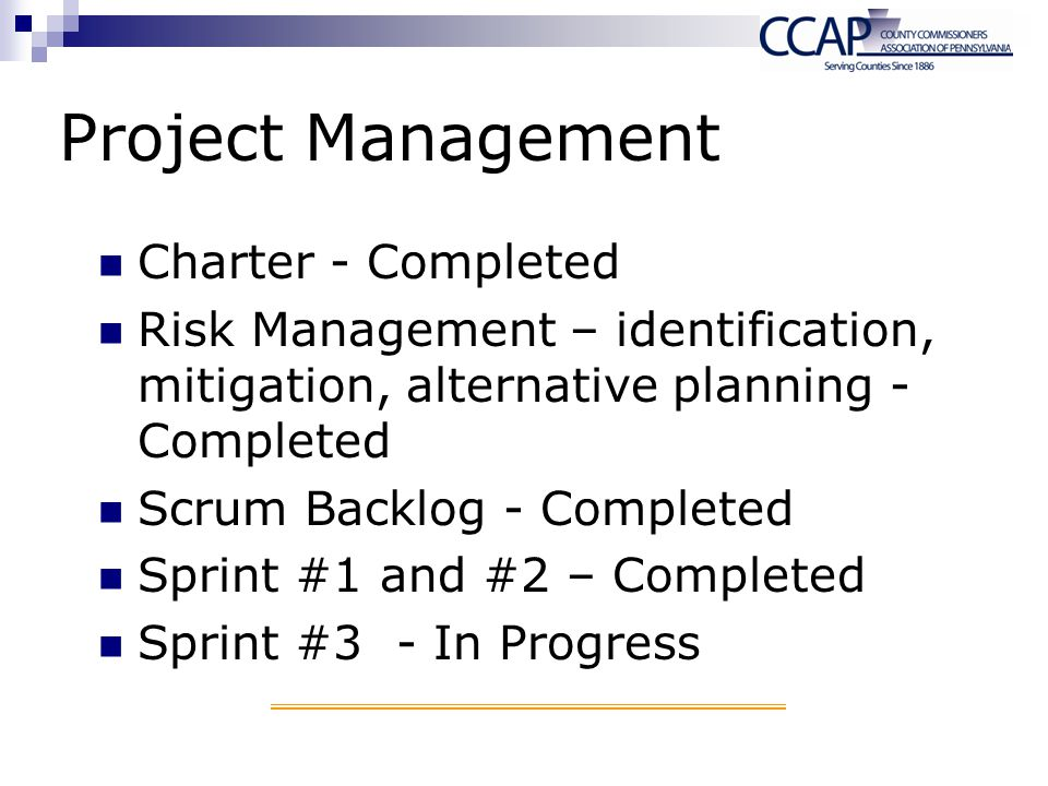 Project Management Charter - Completed