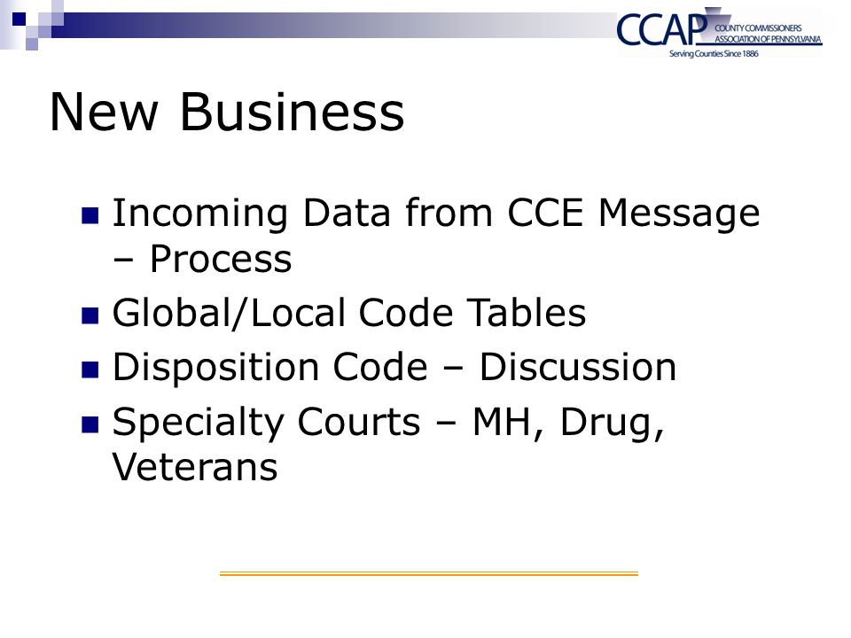 New Business Incoming Data from CCE Message – Process