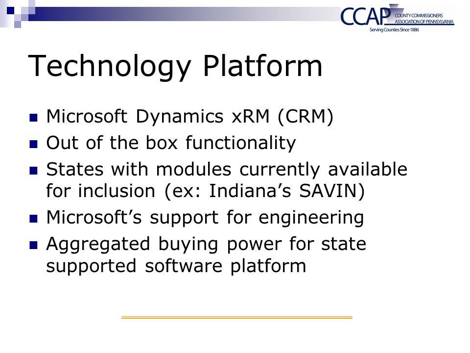 Technology Platform Microsoft Dynamics xRM (CRM)