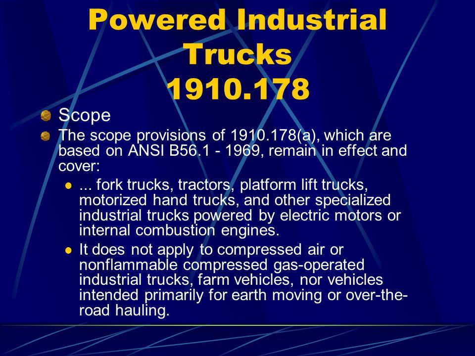 Powered Industrial Trucks 1910.178