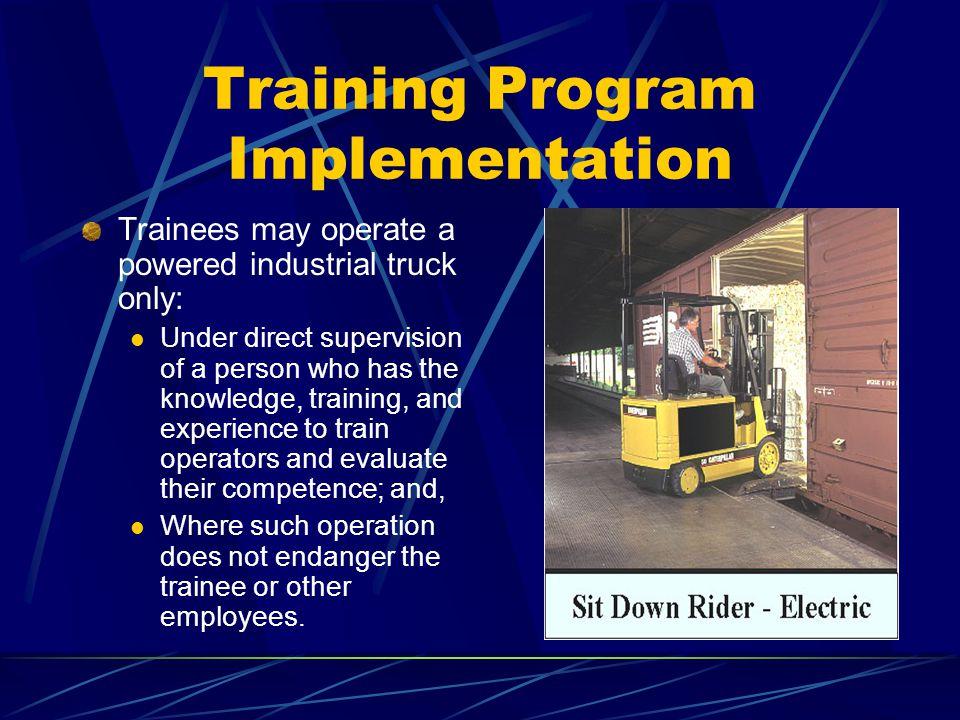 Training Program Implementation