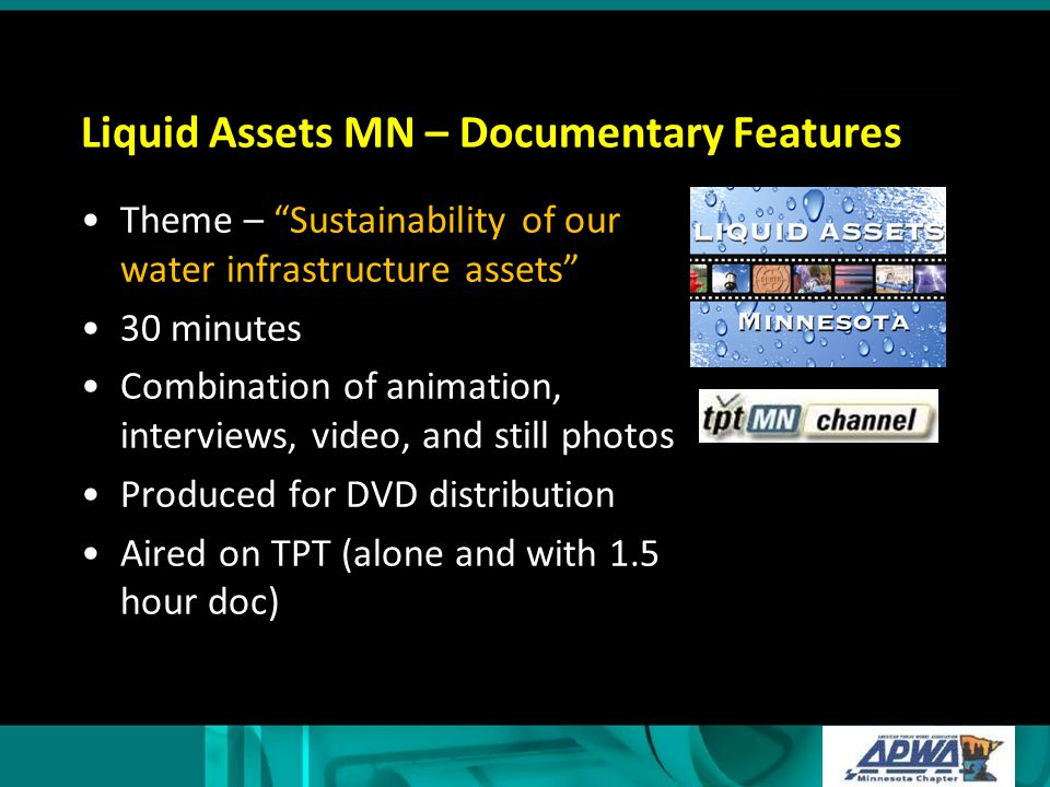 Liquid Assets MN – Documentary Features
