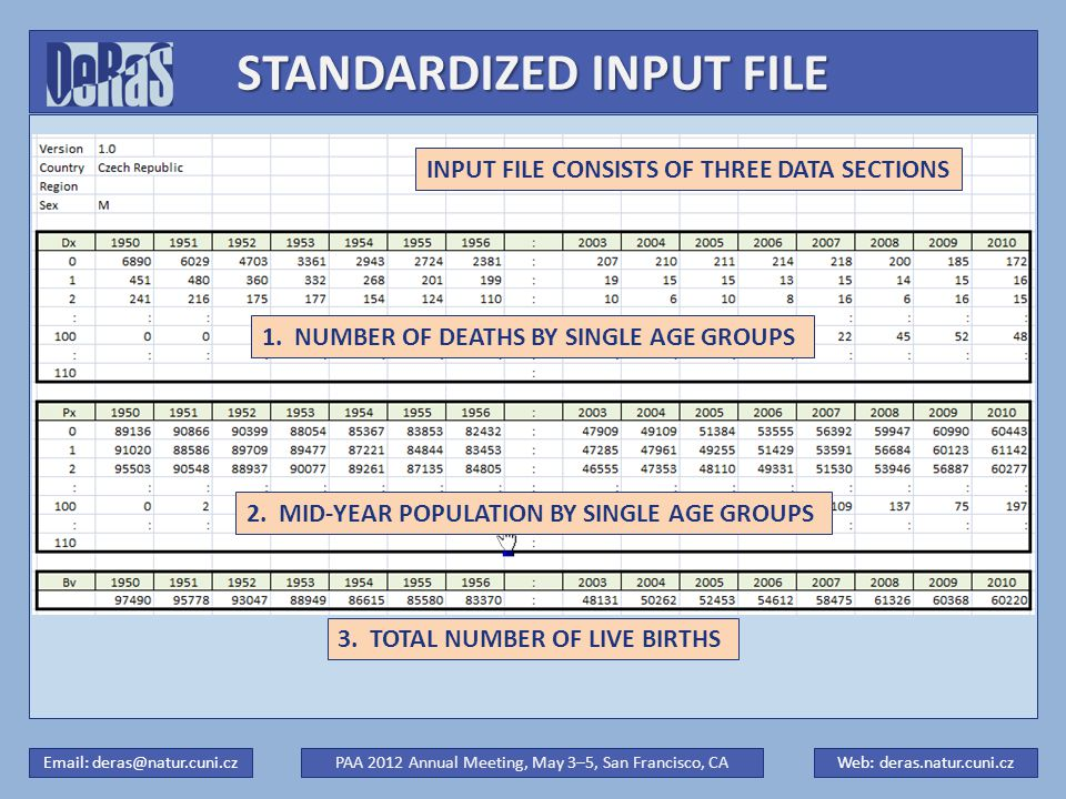 STANDARDIZED INPUT FILE