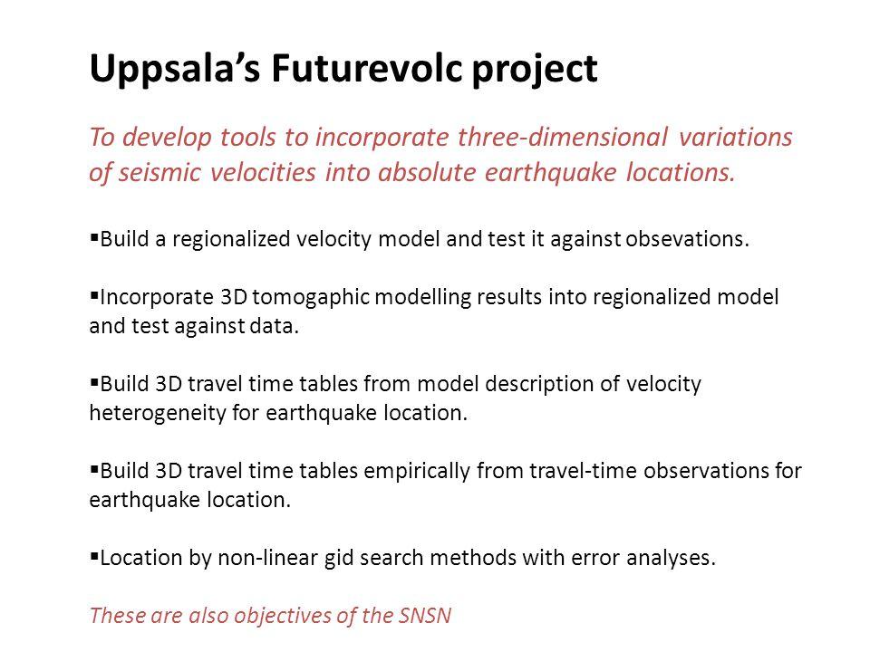 Uppsala's Futurevolc project