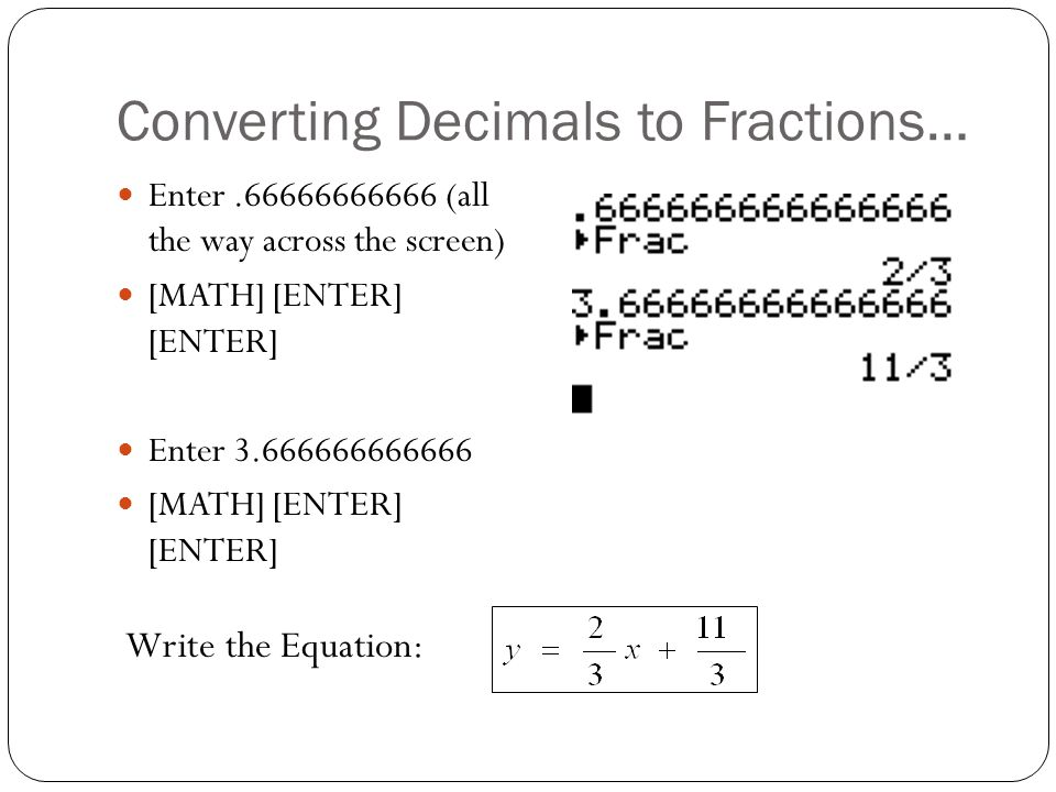 Converting Decimals to Fractions…