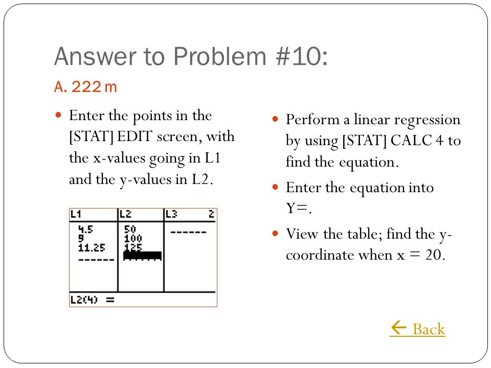 Answer to Problem #10:  Back