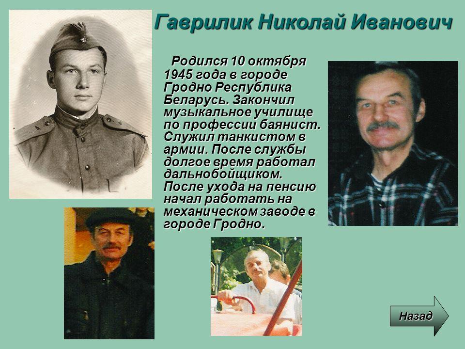 Гаврилик Николай Иванович