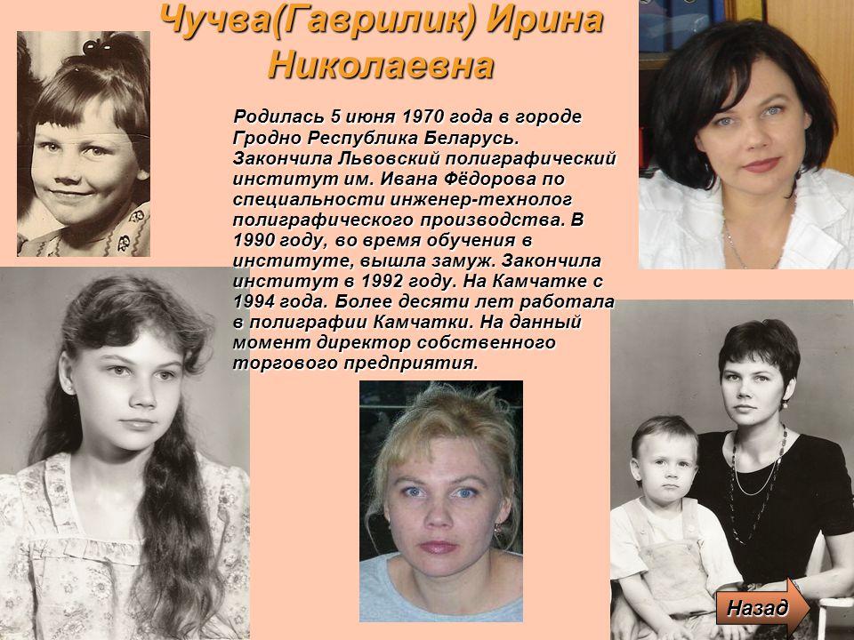 Чучва(Гаврилик) Ирина Николаевна