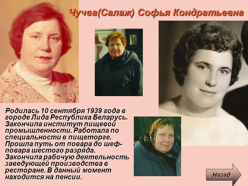 Чучва(Салаж) Софья Кондратьевна