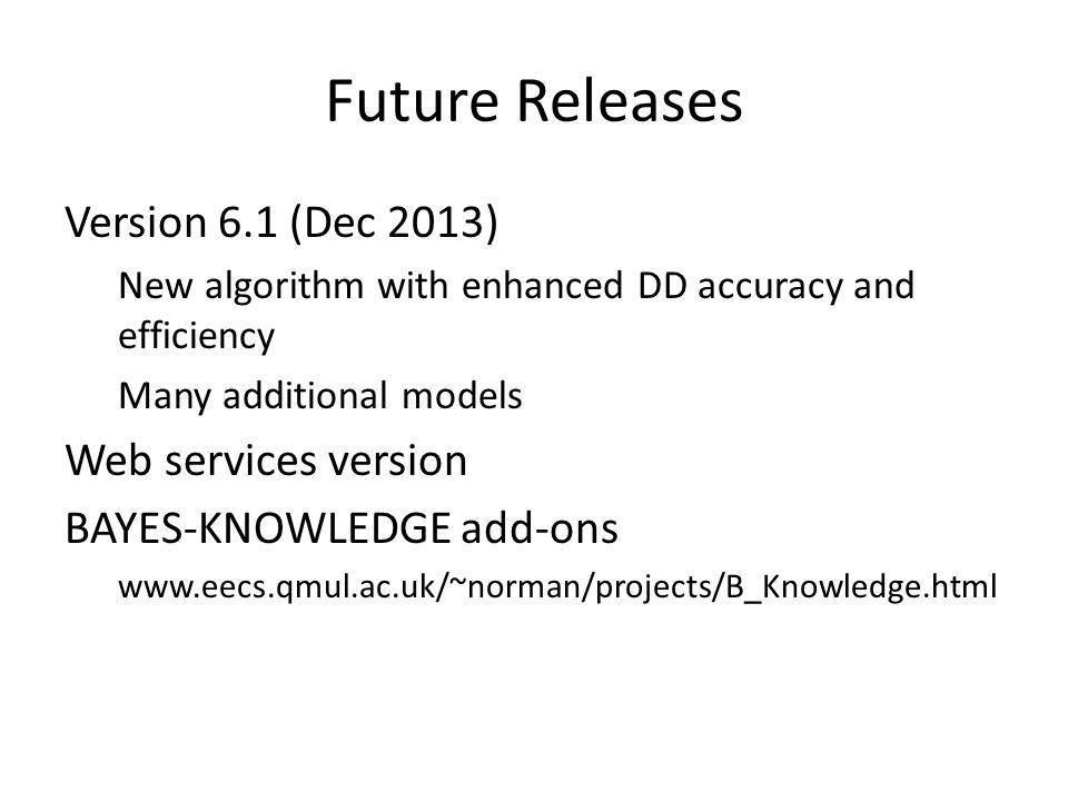 Future Releases Version 6.1 (Dec 2013) Web services version