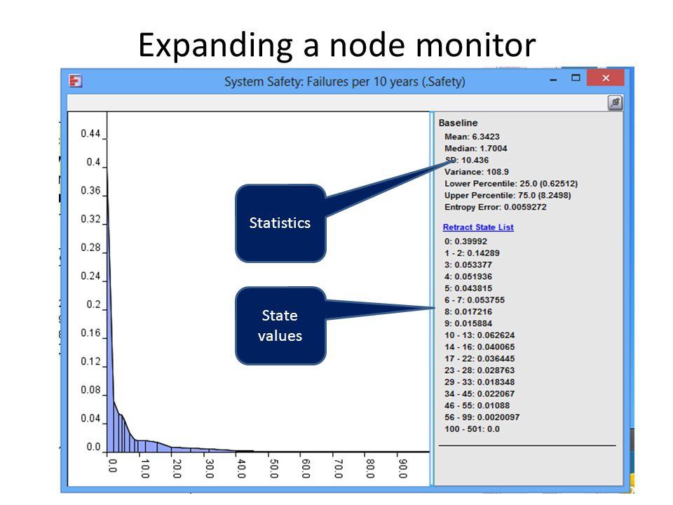 Expanding a node monitor