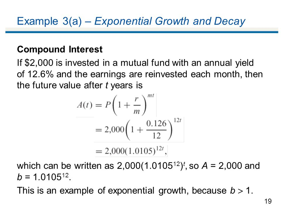 Example 3(a) – Exponential Growth and Decay