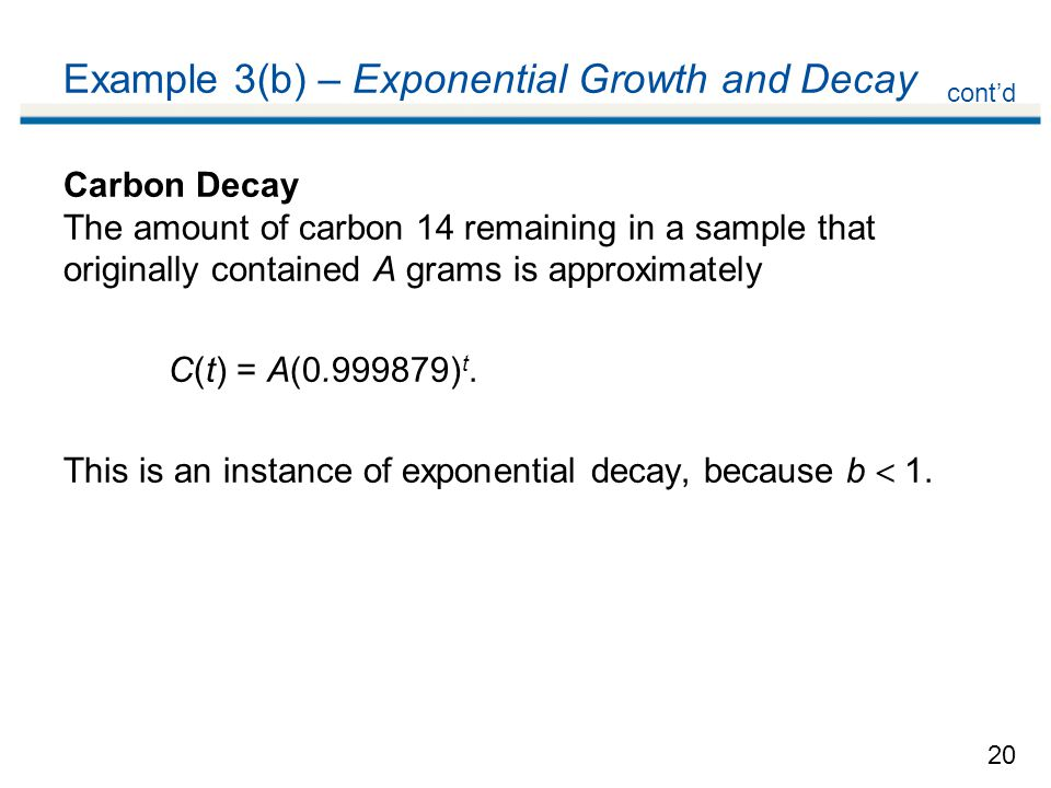 Example 3(b) – Exponential Growth and Decay