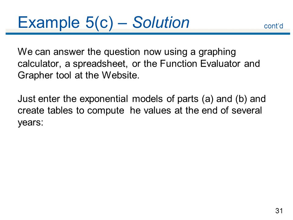 Example 5(c) – Solution cont'd.