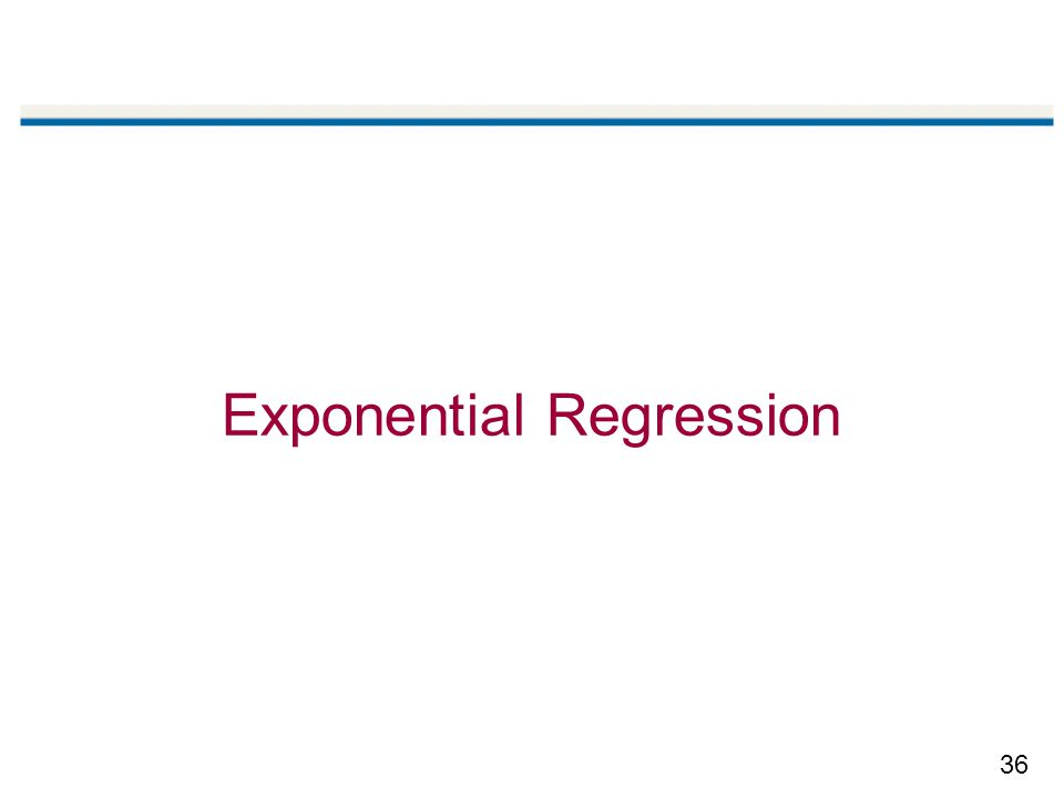 Exponential Regression