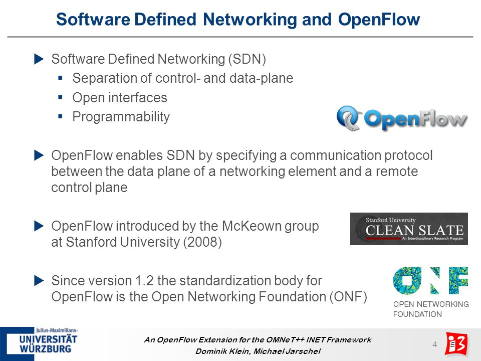 Software Defined Networking and OpenFlow