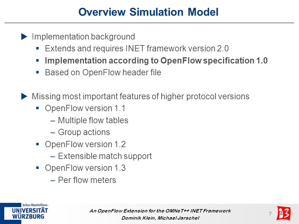 Overview Simulation Model