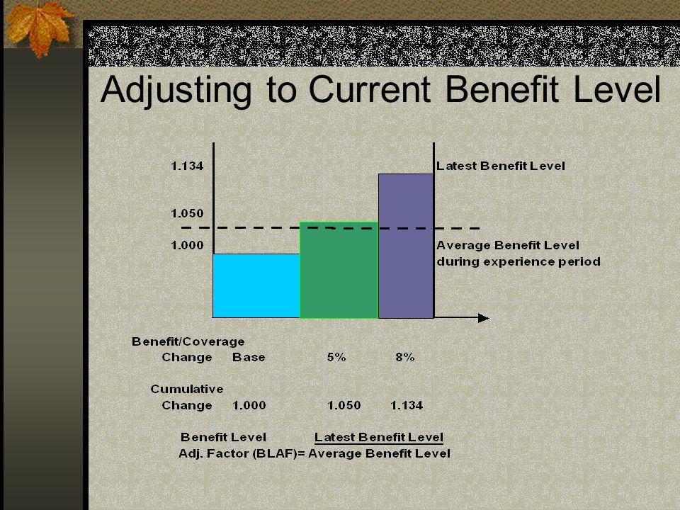 Adjusting to Current Benefit Level